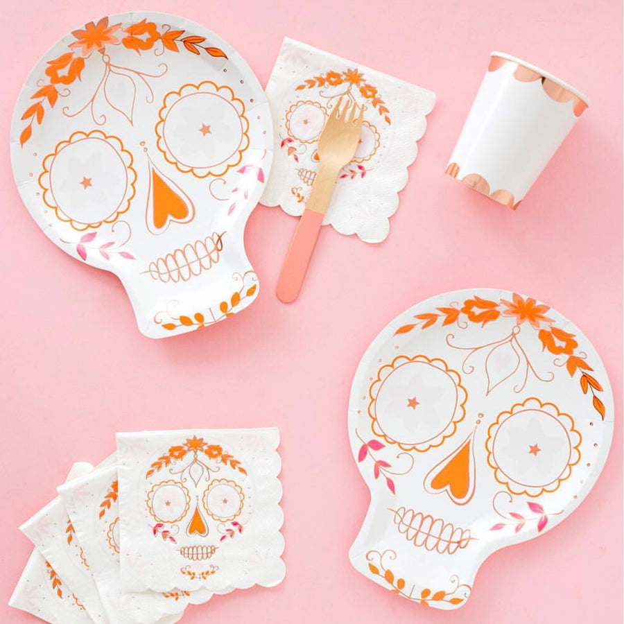 """Sugar Skull"" Paper Napkins - Small"