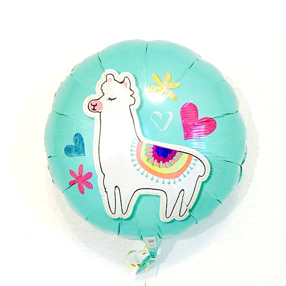 Llama Celebration Round Mylar Balloon