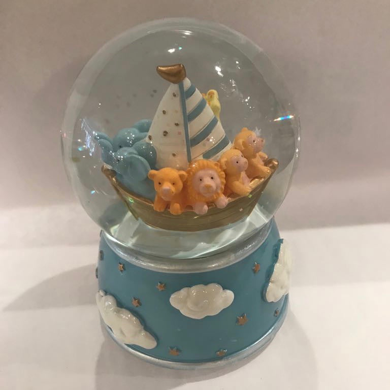 Blue Noah's Arc Snow Globe