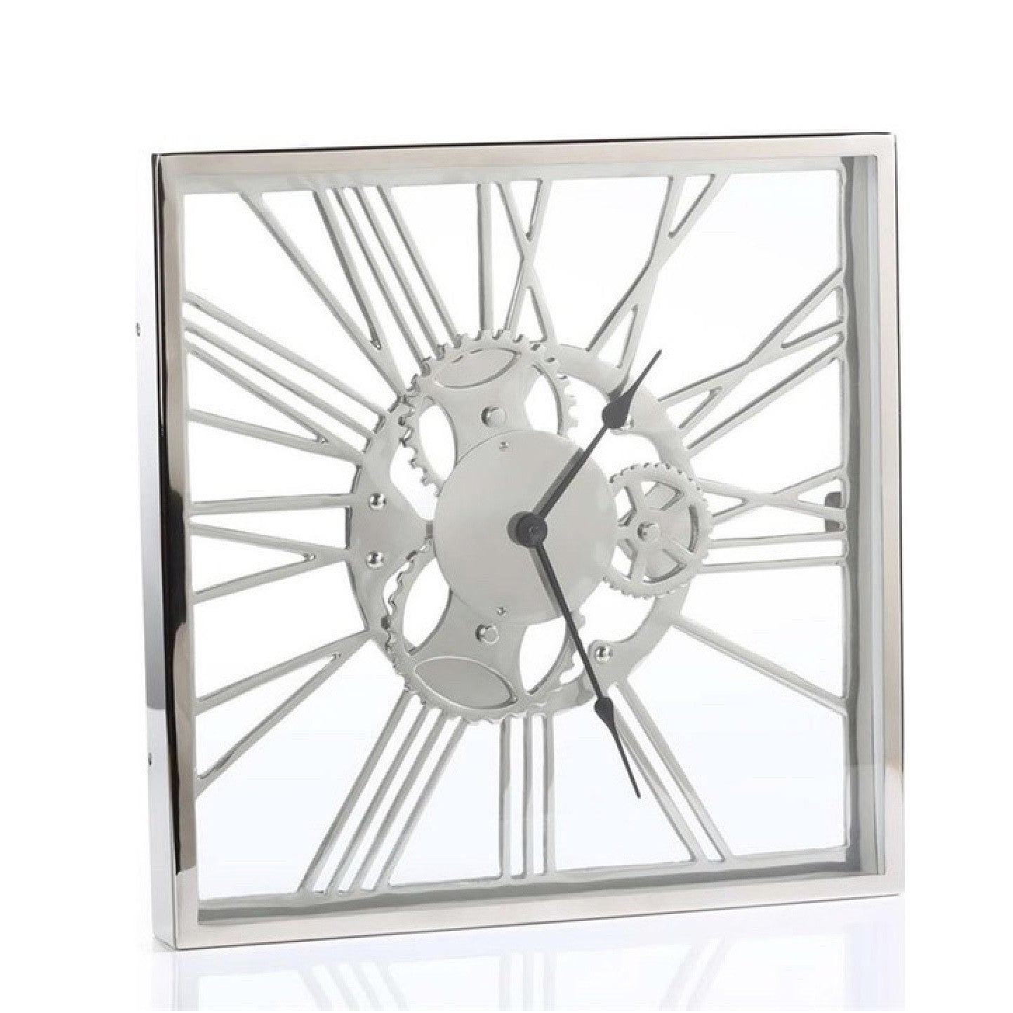 Zodax Regatta Polished Nickel Clock, ZX-Zodax, Putti Fine Furnishings
