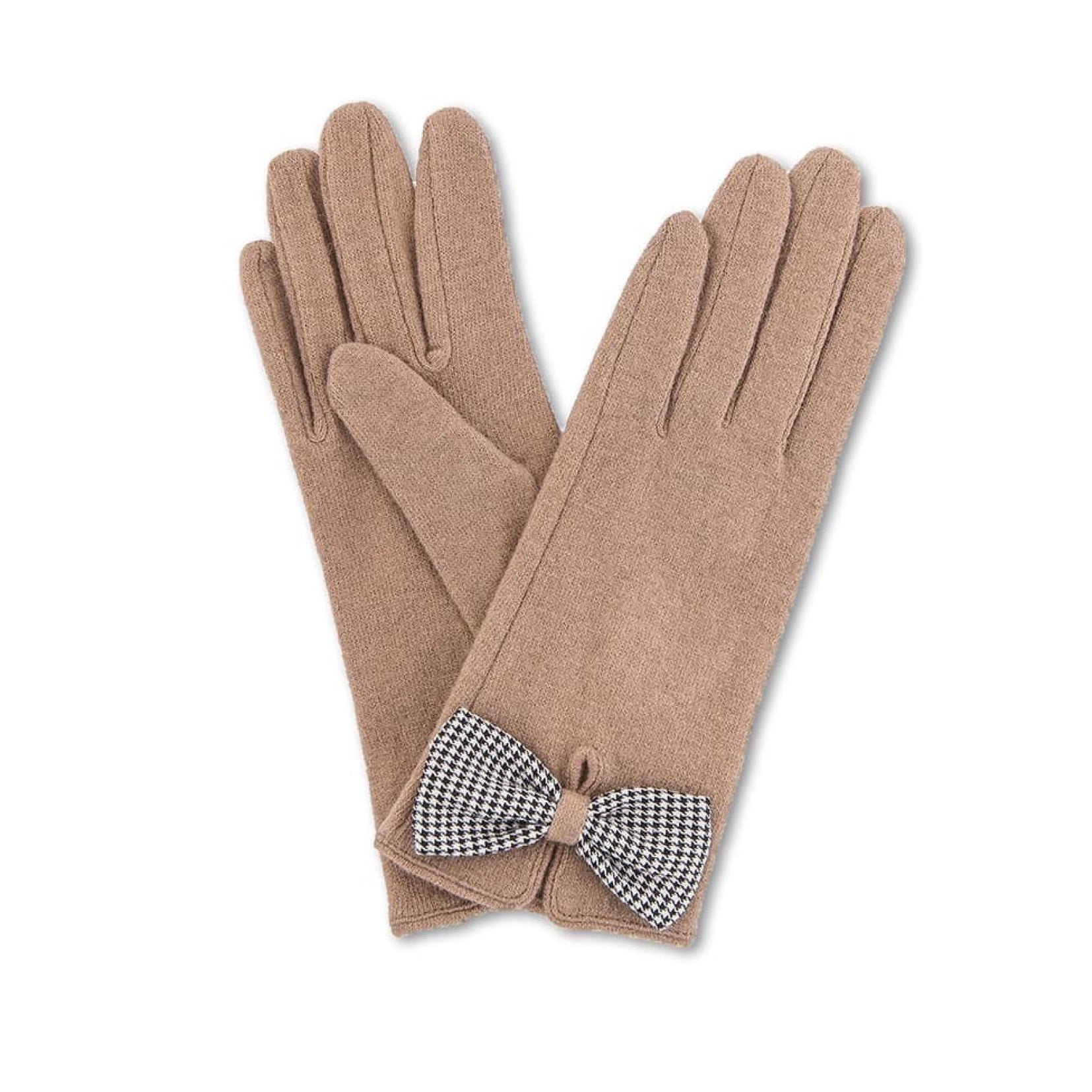 "Powder ""Violet"" Wool Gloves - Camel"