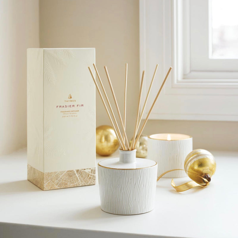 Thymes Frasier Fir Ceramic Reed Diffuser -  Home Fragrance - Thymes - Putti Fine Furnishings Toronto Canada