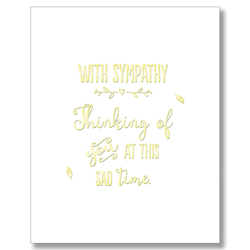 """With Sympathy"" Greeting Card"