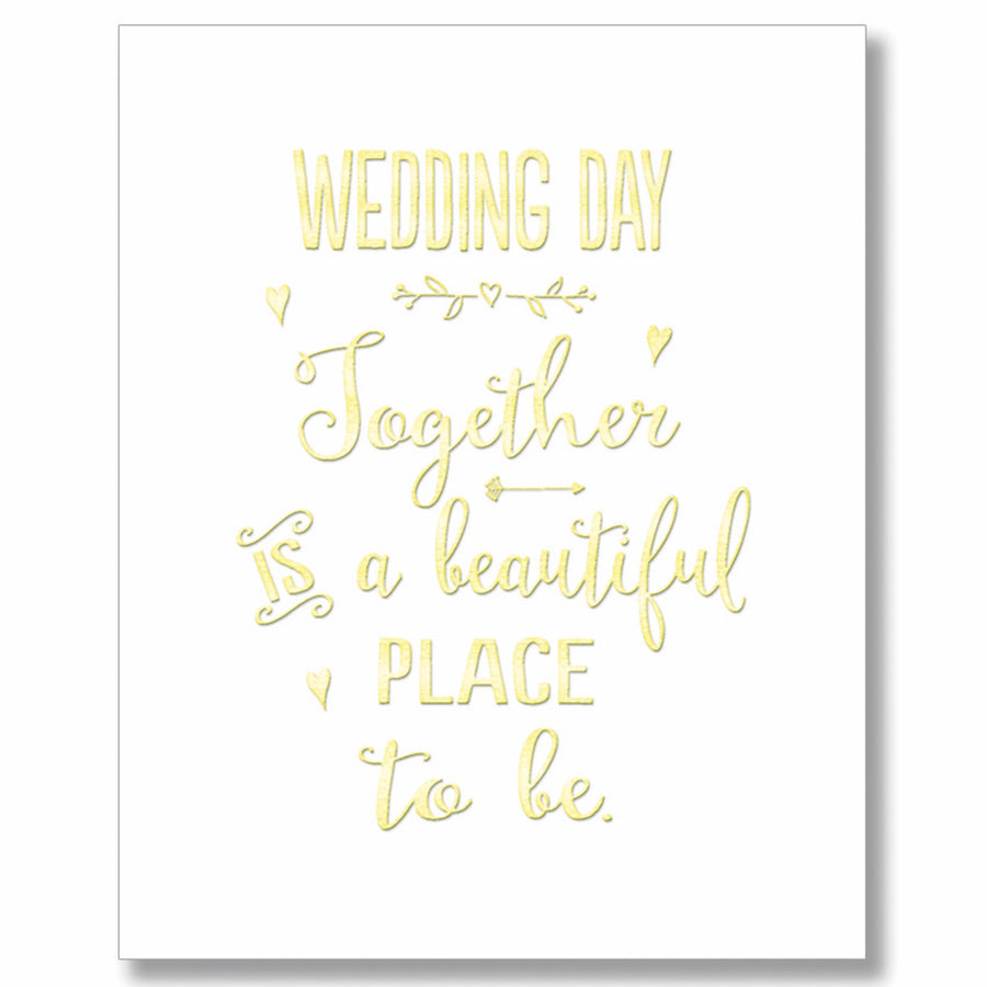 """Wedding Day"" Greeting Card"