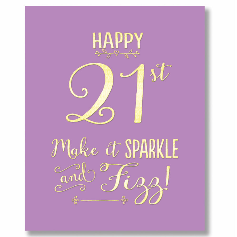 """Happy 21st"" Greeting Card"