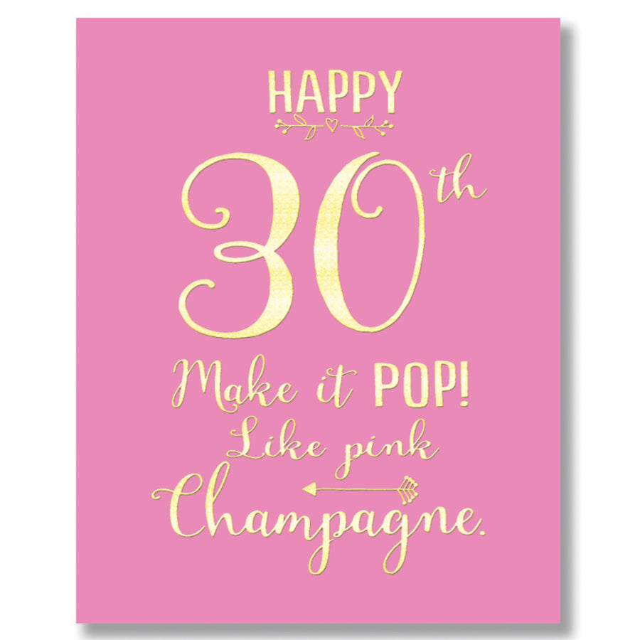 """Happy 30th"" Greeting Card"