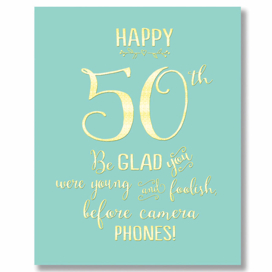 """Happy 50th"" Greeting Card"