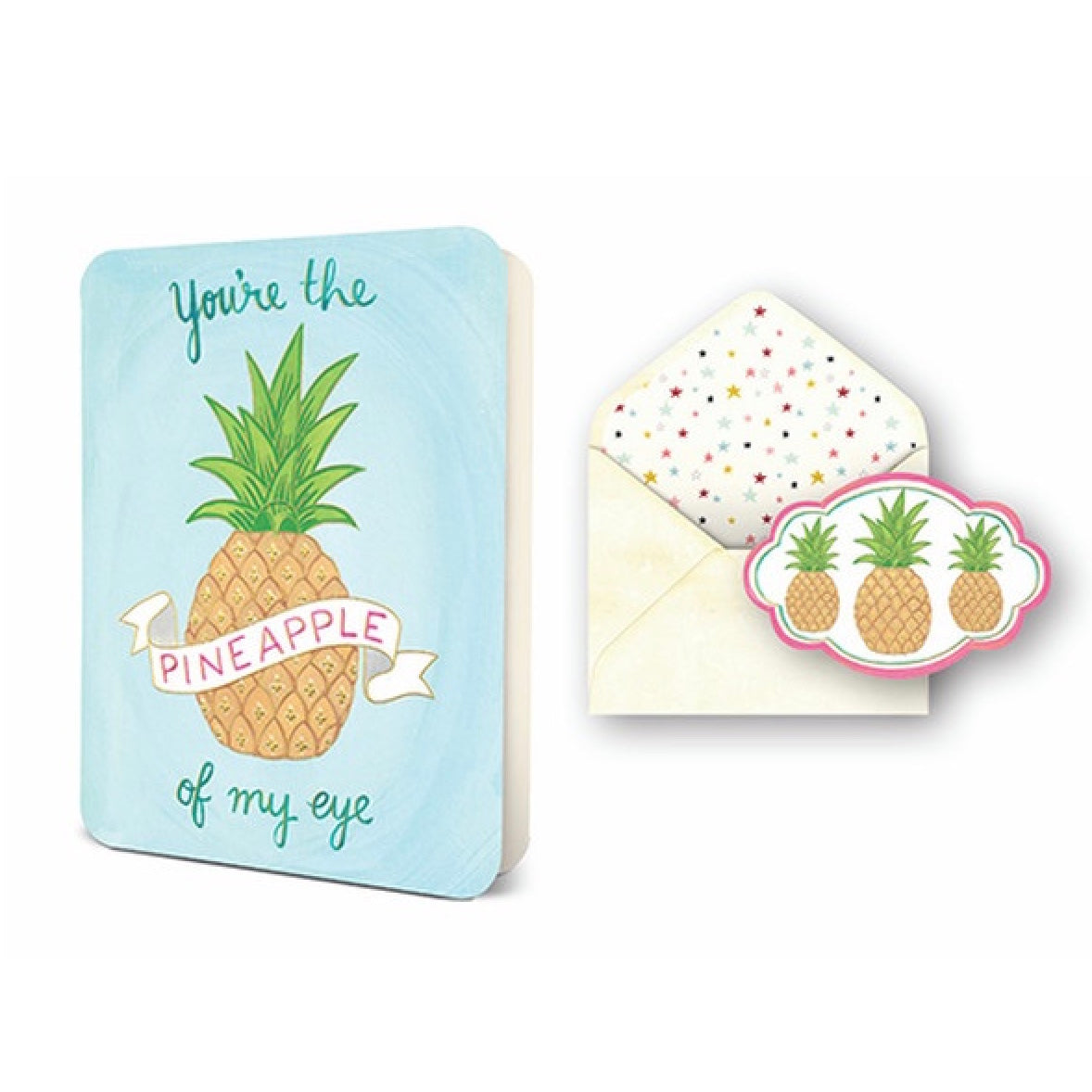 """Pineapple of my Eye"" Greeting Card"