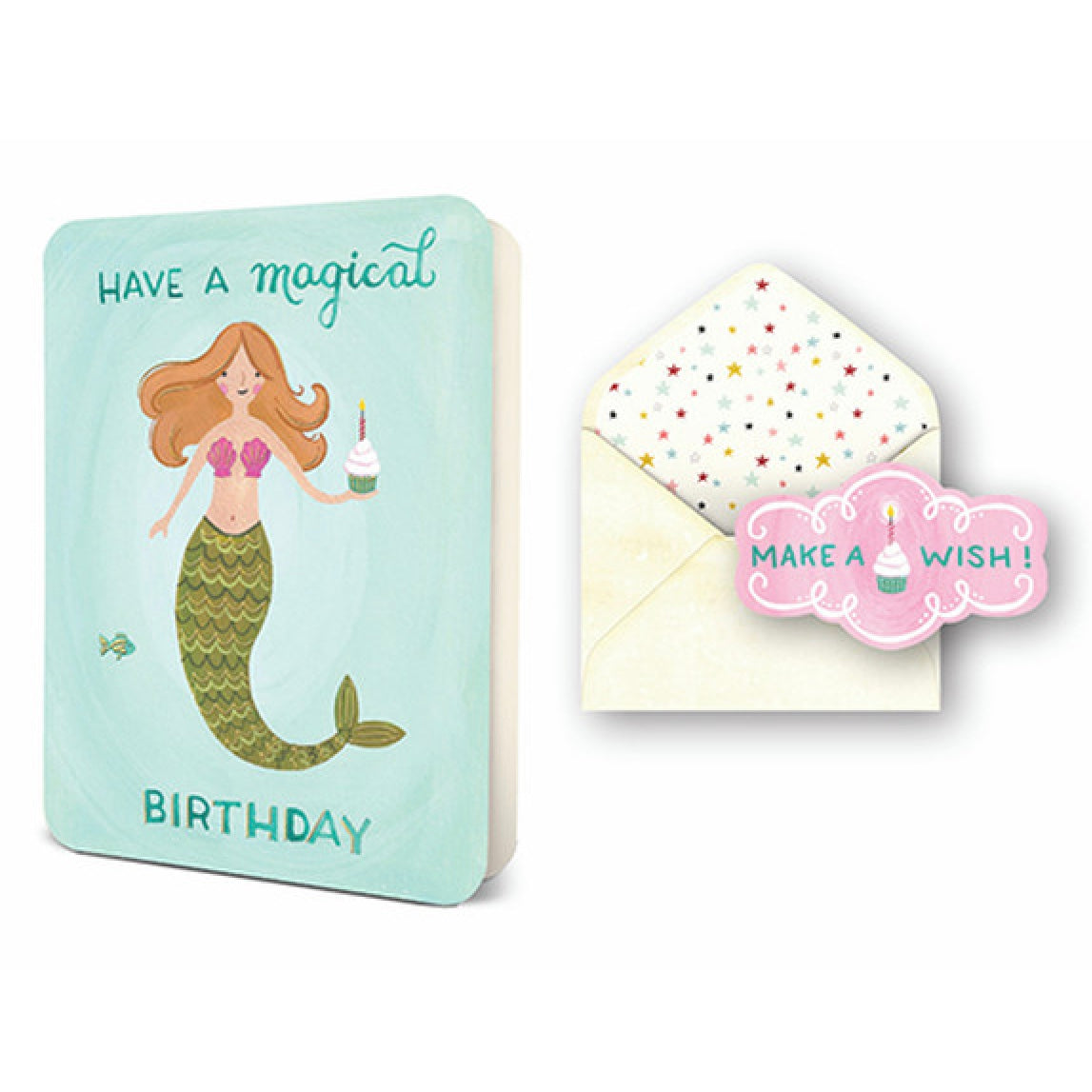 """Have a Magical Birthday"" Mermaid Greeting Card"