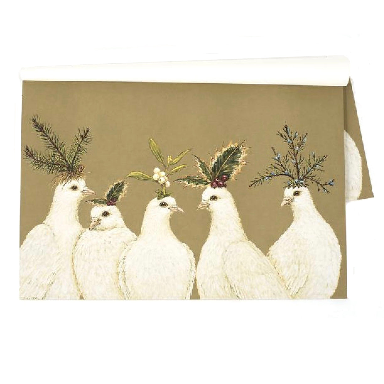 Hester & Cook Peaceful Doves Paper Placemats - Putti Fine Furnishings Canada