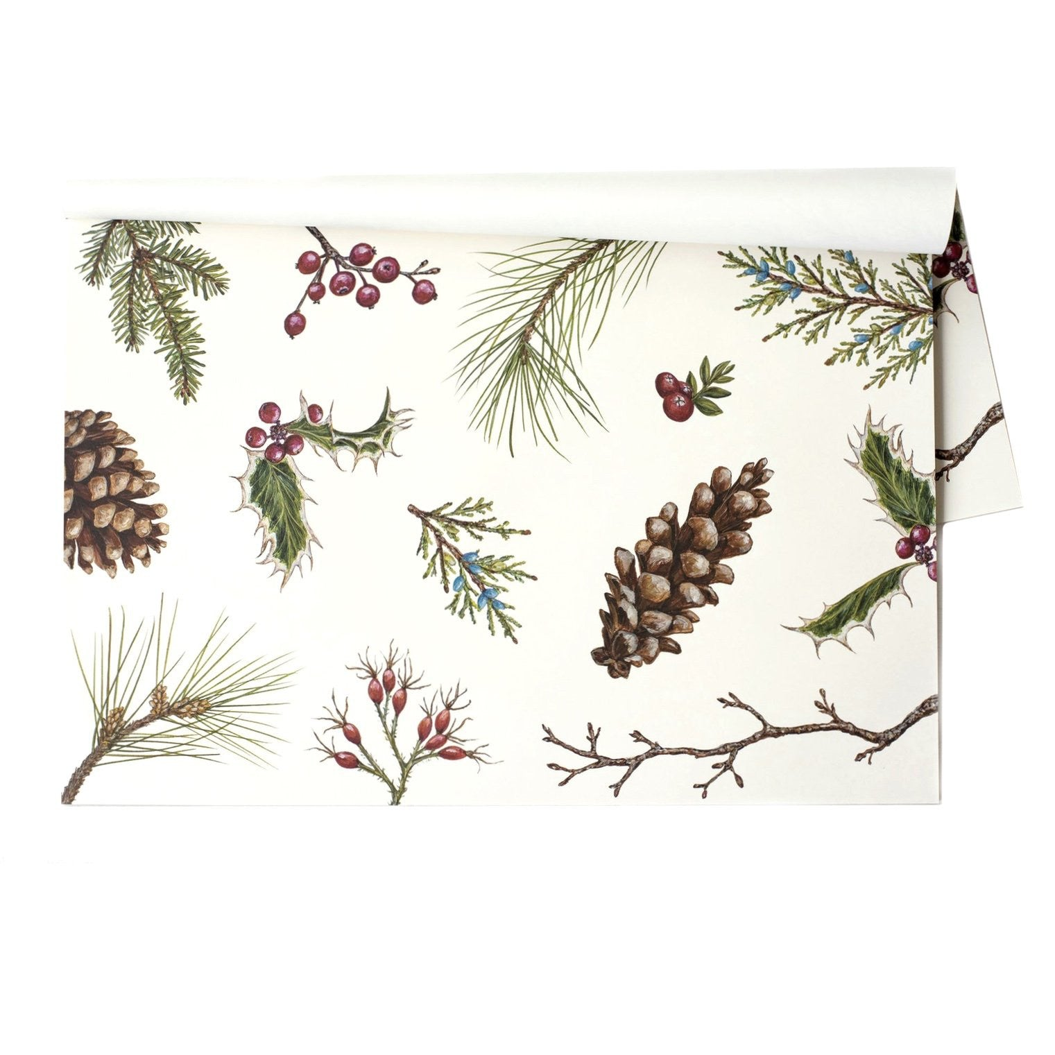 Hester & Cook Winter Collage Paper Placemats - Putti Celebrations & Partyware