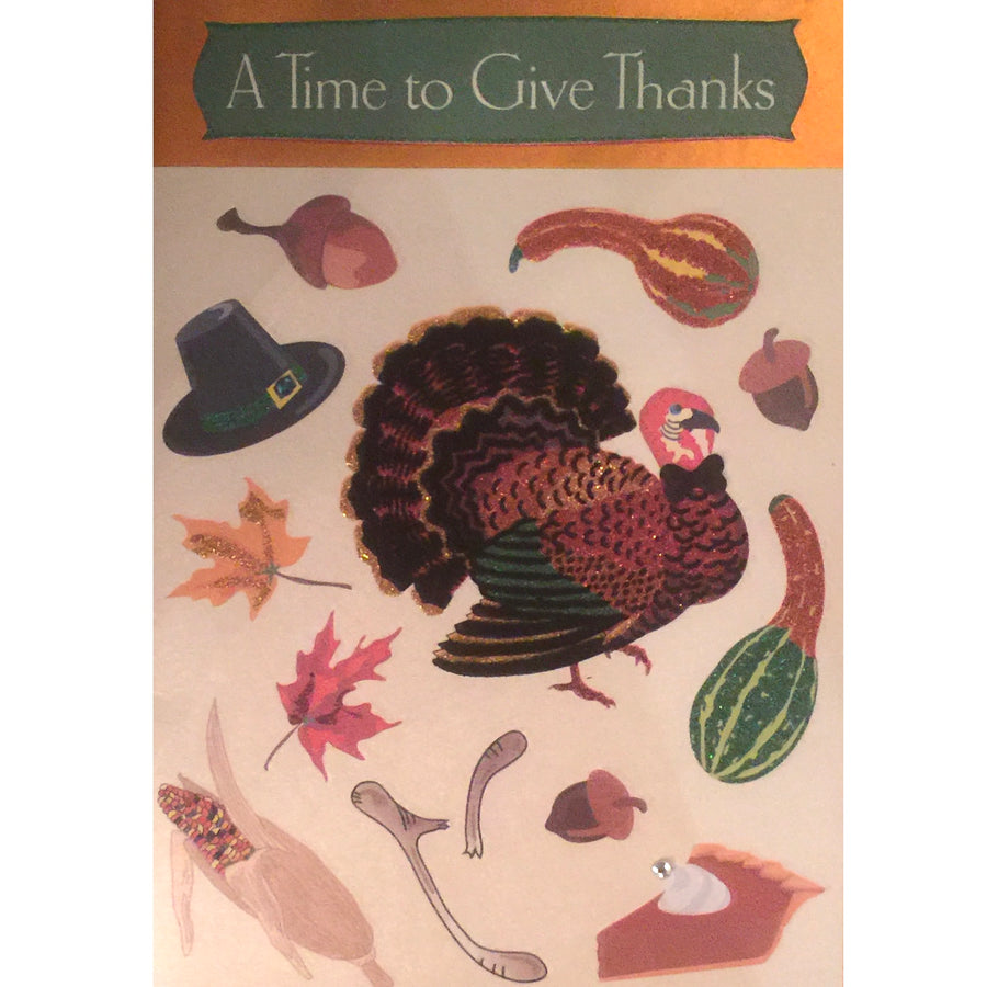 """A Time to Give Thanks"" Greeting Card"