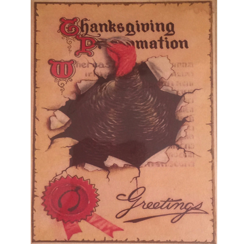Vintage Turkey Greeting Card