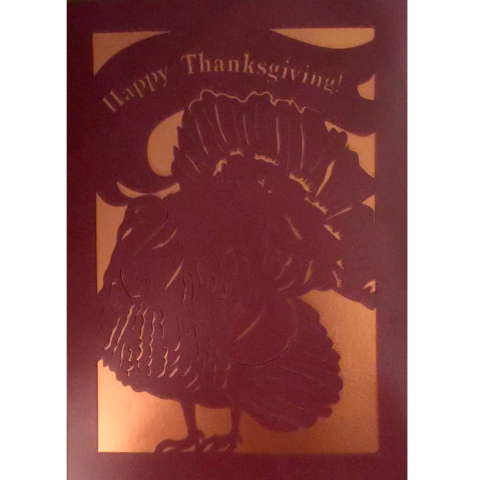 """Happy Thanksgiving"" Cut Out Greeting Card"