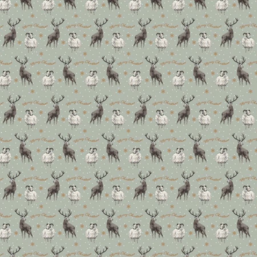 Stag and Sheep Wrapping Paper