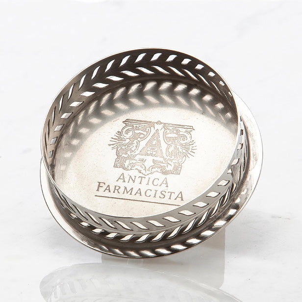 Antica Farmacista  Nickel Plated Round Tray - 500ml size