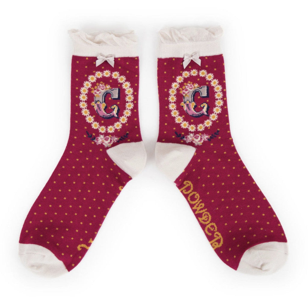 "Powder ""A to Z"" Ankle Socks - C - Putti Fine Fashions Canada"