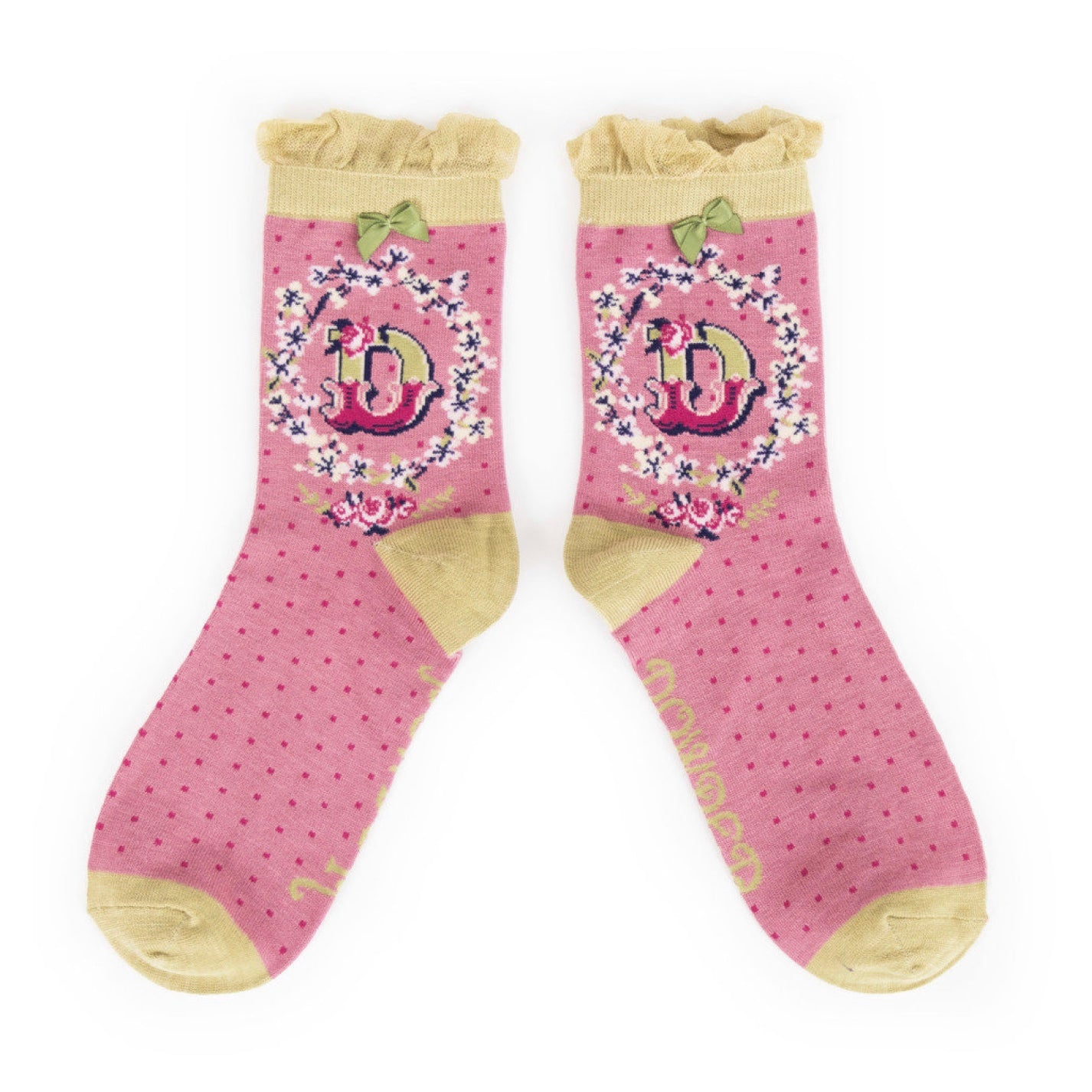 "Powder ""A to Z"" Ankle Socks - D - Putti Fine Fashions Canada"