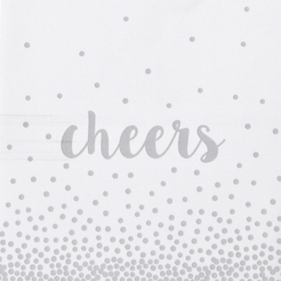 "Silver ""Cheers"" Paper Napkin - Cocktail"