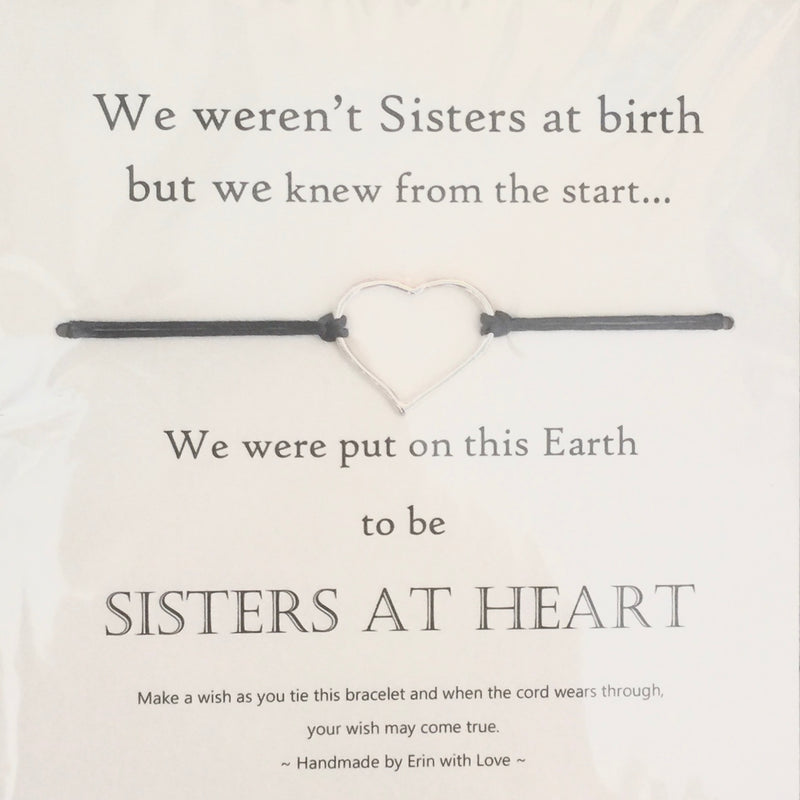 """Sisters at heart"" Wish String"