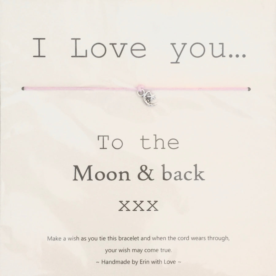 """I love you to the moon and back xxx"" Wish String"