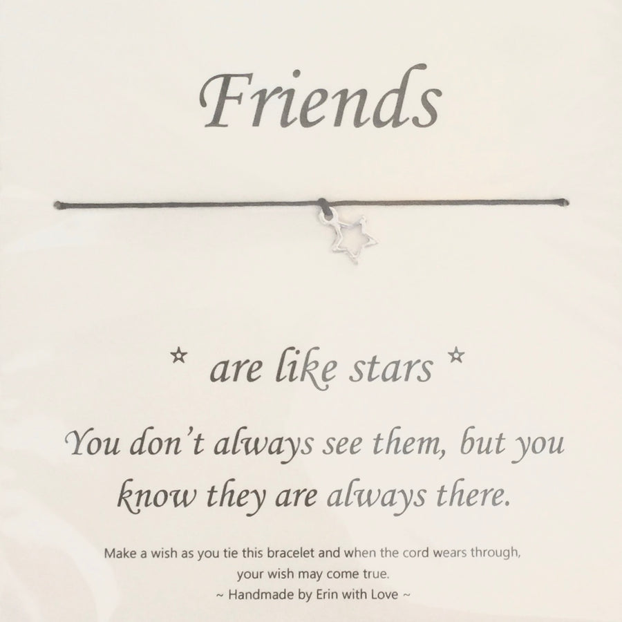 """Friends are like stars ..."" Wish String"