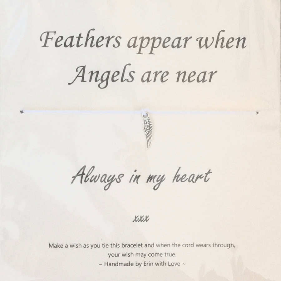 """Feathers appear when angels are near ..."" Wish String"