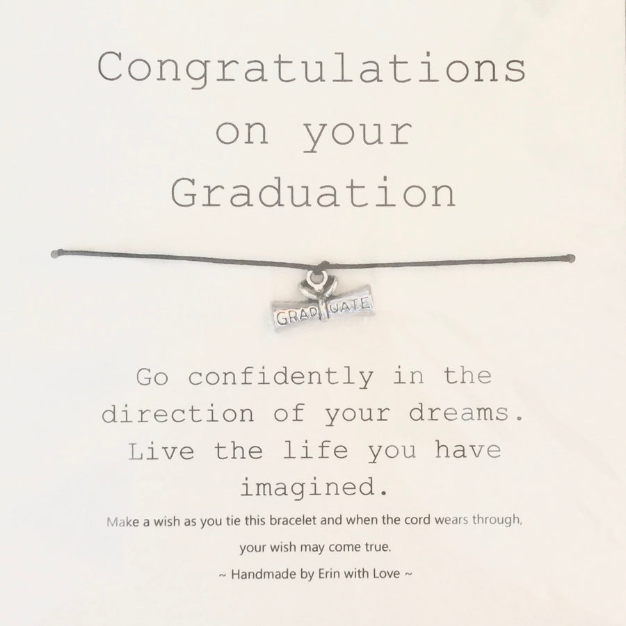 """Congratulations on your graduation ..."" Wish String"