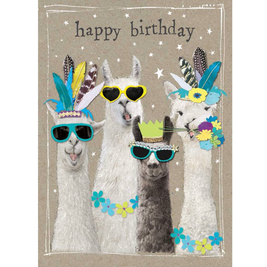 """Happy Birthday"" Llama Greeting Card"
