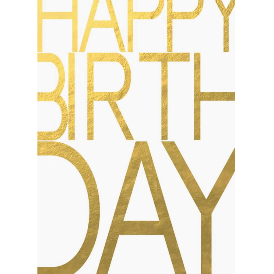 "Happy Birthday"" Gold Foil Greeting Card"