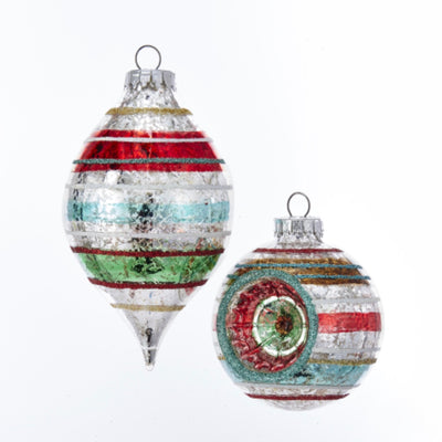 Kurt Adler Early Years Glass Reflector Ball Ornaments - 65mm