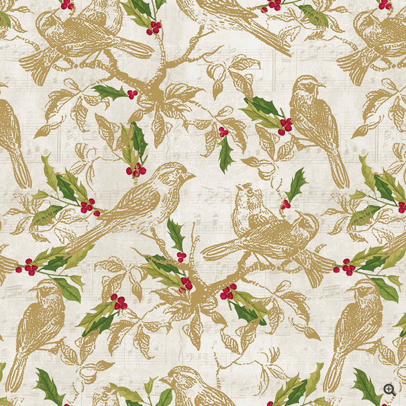 Seasonal Songbird Wrapping Paper Roll