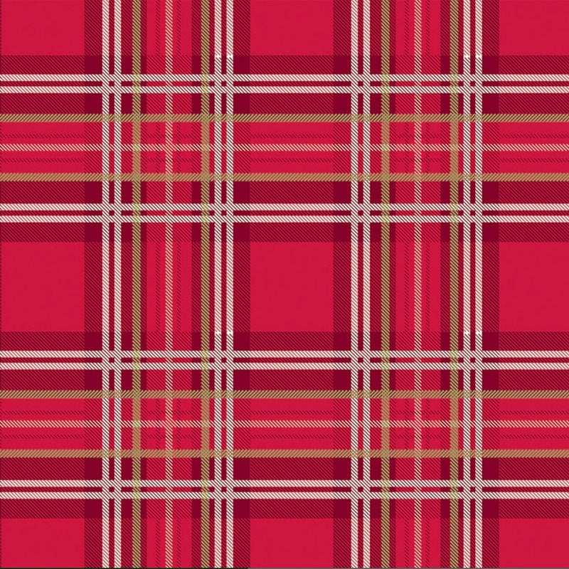 Festive Flannel Plaid Wrapping Paper Roll - Putti Christmas Canada