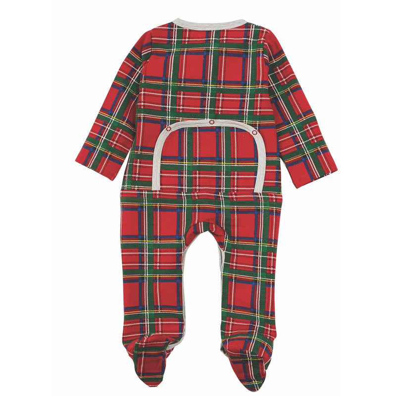 Mud Pie Red Tartan Sleeper - Le Petite Putti  Christmas Canada