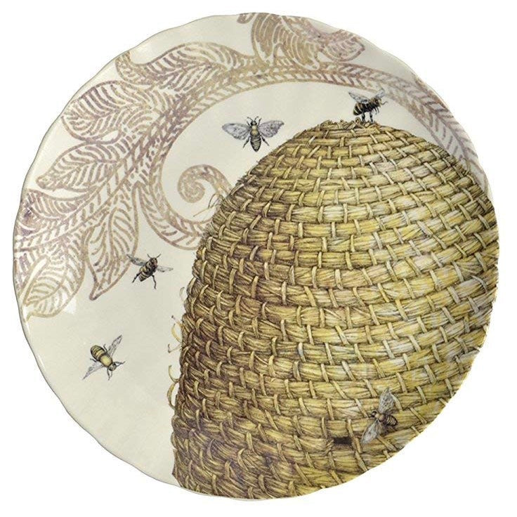 Creative co op Beehive Stoneware Plate - Putti Fine Furnishings
