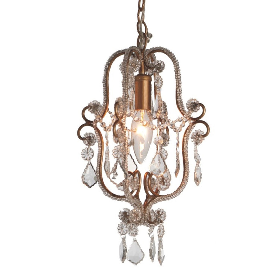 Mini Gold Beaded Chandelier - Putti Fine Furnishings Canada