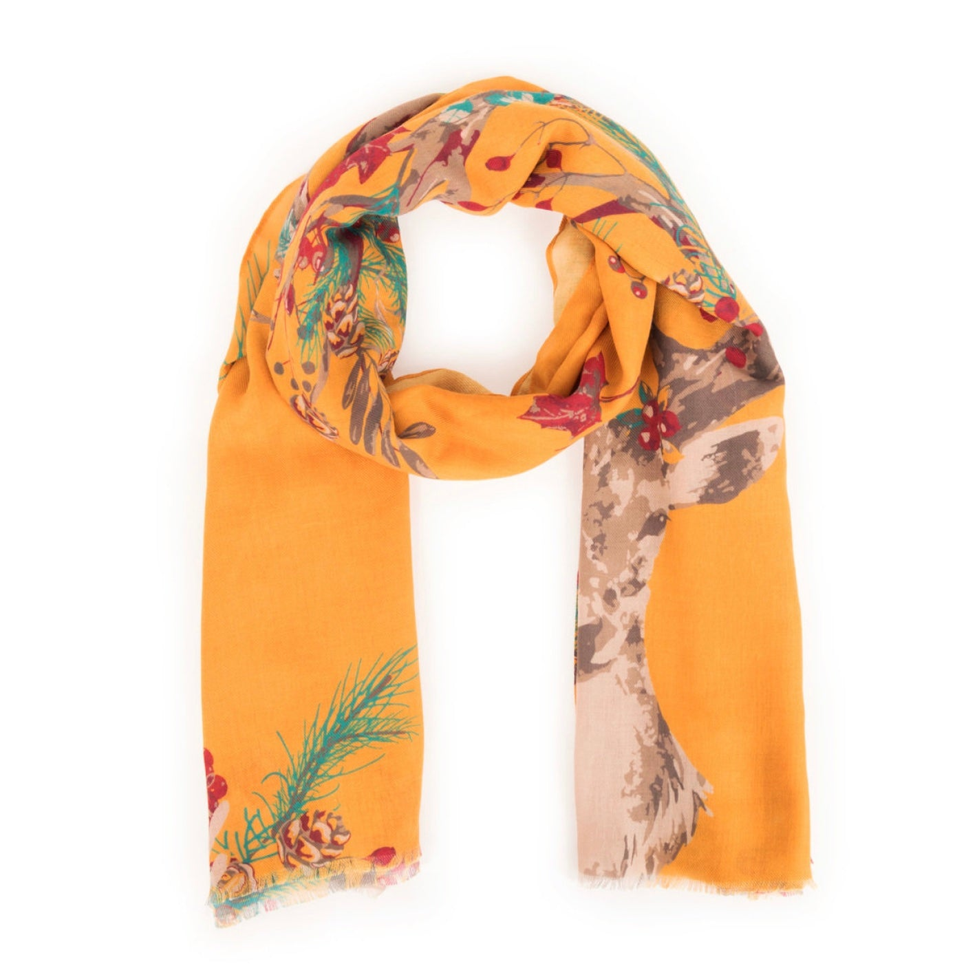 "Powder ""Enchanted Stag"" Print Scarf - Putti Fine Fashions Canada"