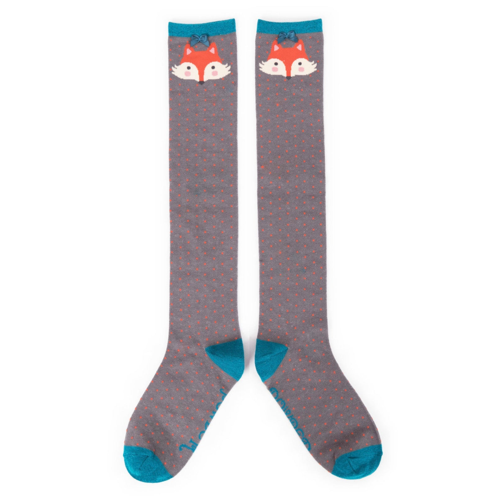 "Powder ""Fox"" Knee Socks - Slate  - Putti Fine Fashions Canada"
