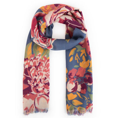 "Powder ""Winter Floral Print"" Print Scarf"