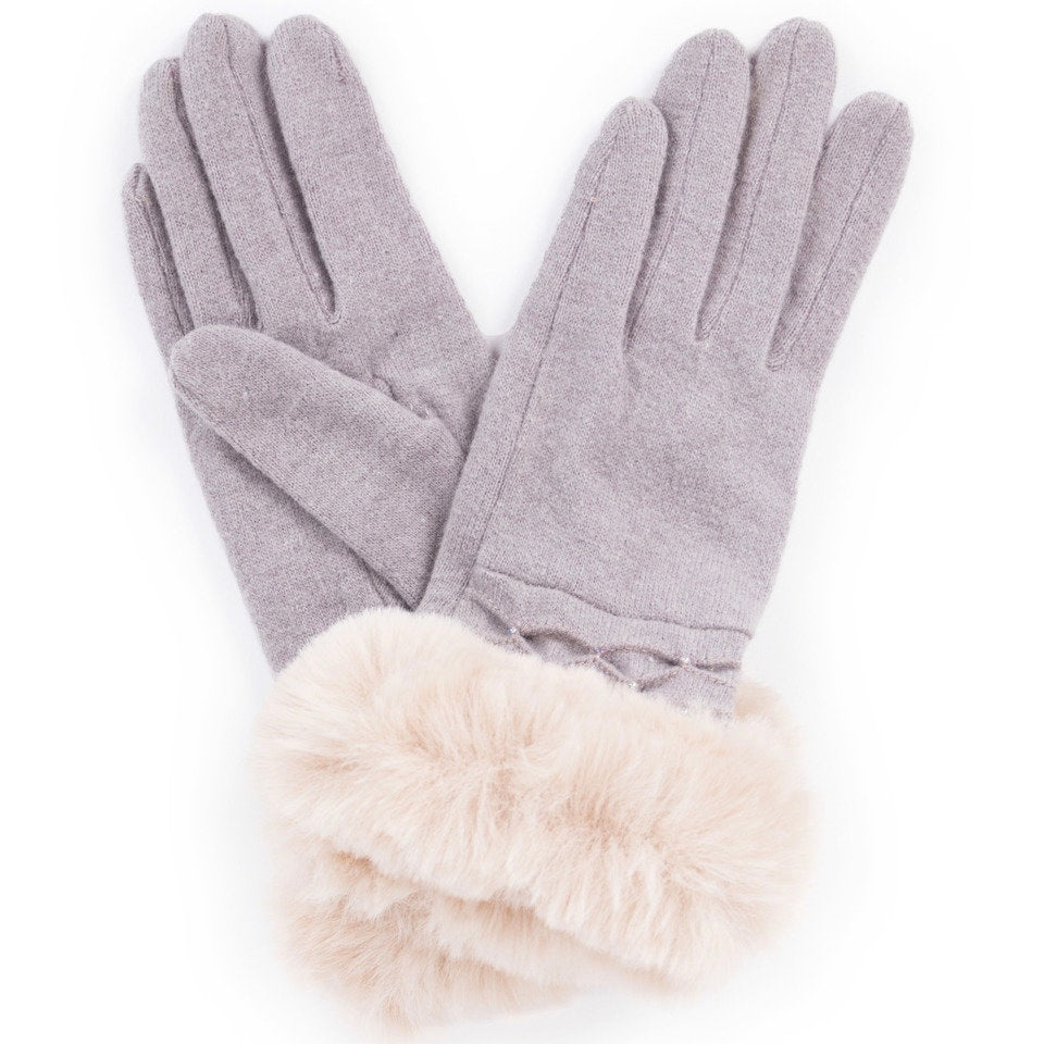 Powder UK Tamara Wool Gloves - Slate - Putti Fine Fashions Canada