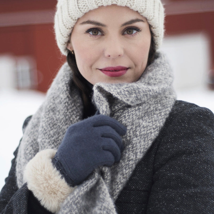 "Powder ""Tamara"" Wool Gloves - Charcoal"