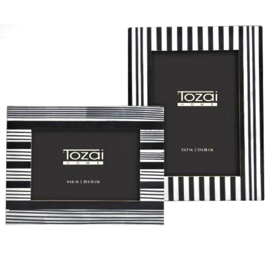 Tozai Black and White Bone Photo Frames