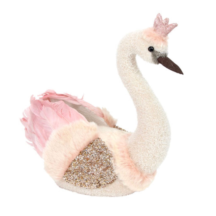 Pink and Cream Feather Swan