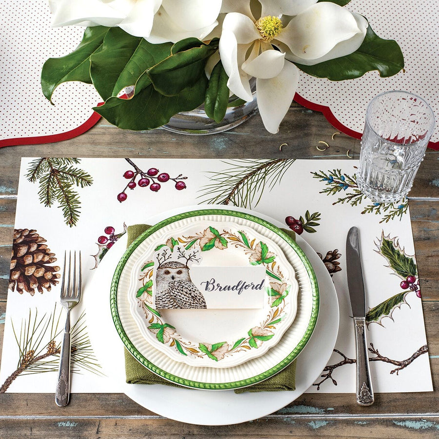 Hester & Cook Winter Owl Placecards