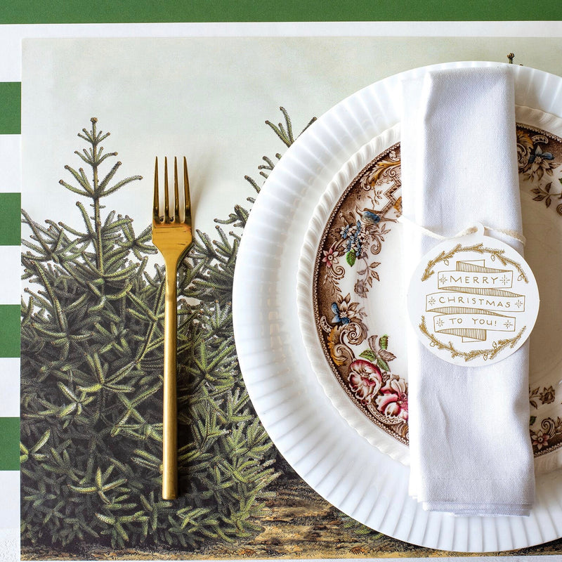 Hester & Cook Fir Tree Paper Placemats | Putti Celebrations & Partyware