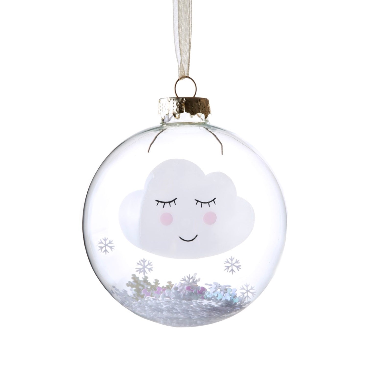 Snowy Sweet Dreams Cloud Ornament | Putti Christmas Canada