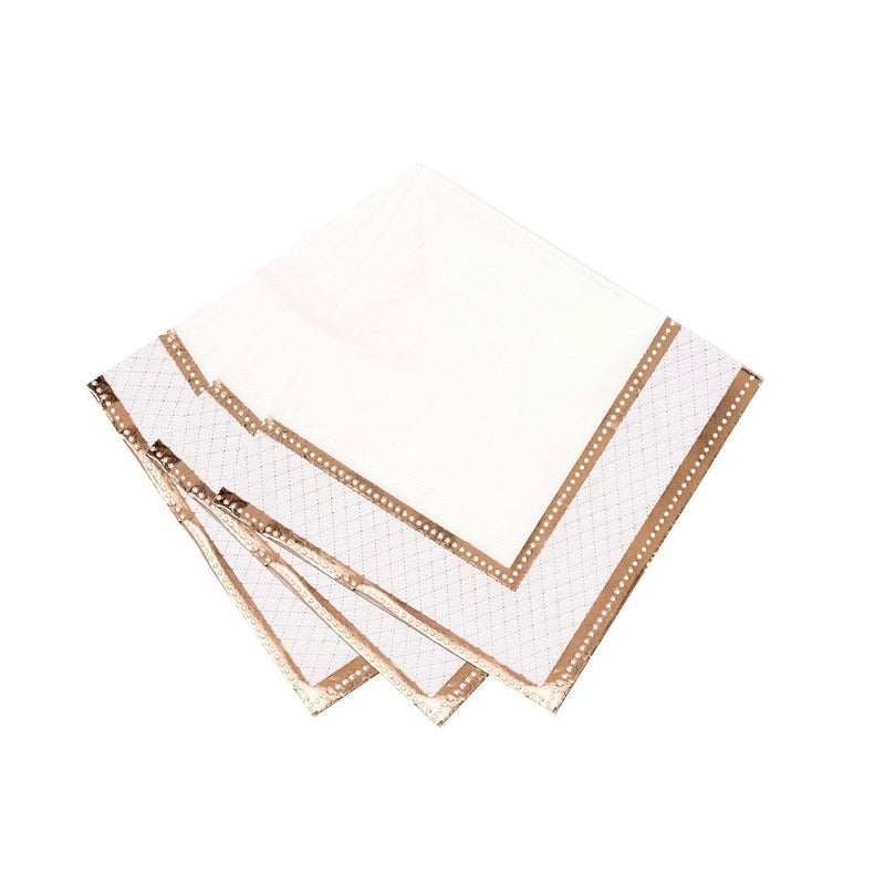 Party Porcelain Rose Gold Paper Luncheon Napkins