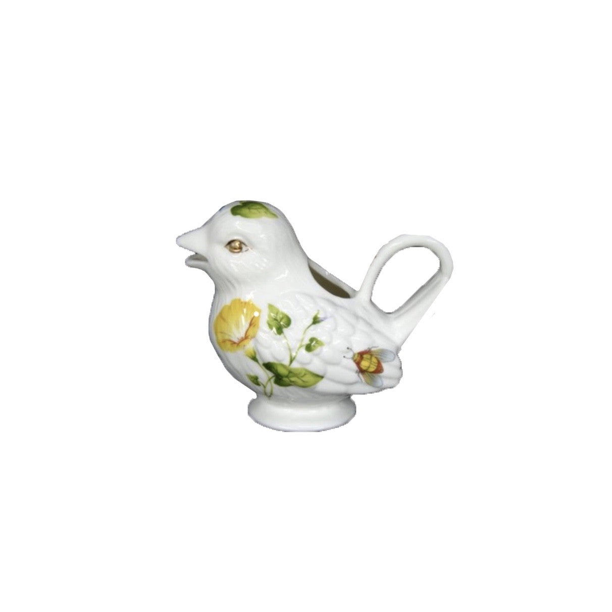Floral Bird Creamer, JLB-J L Bradshaws, Putti Fine Furnishings