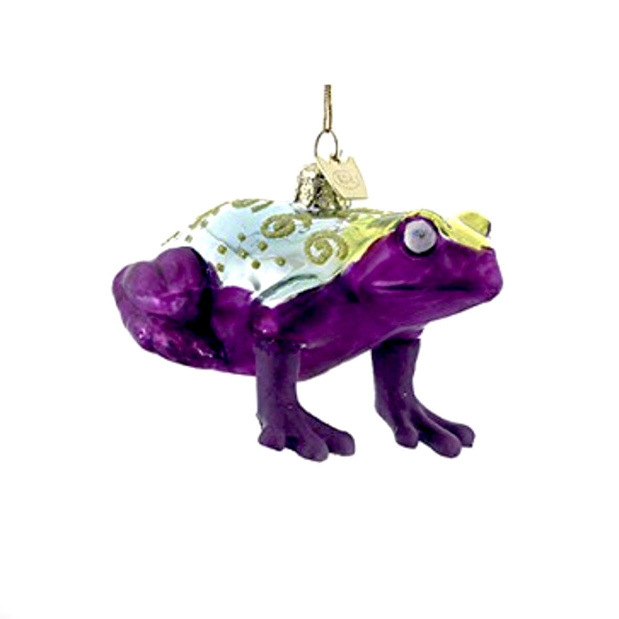 Kurt Adler Purple Frog Glass Ornament