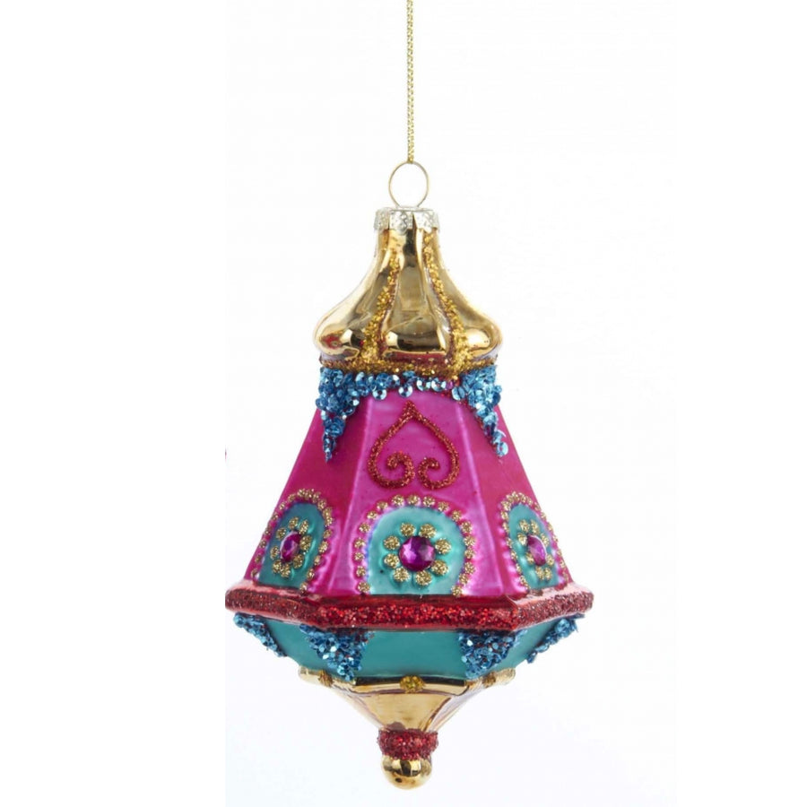 Kurt Adler Glass Lantern Ornament